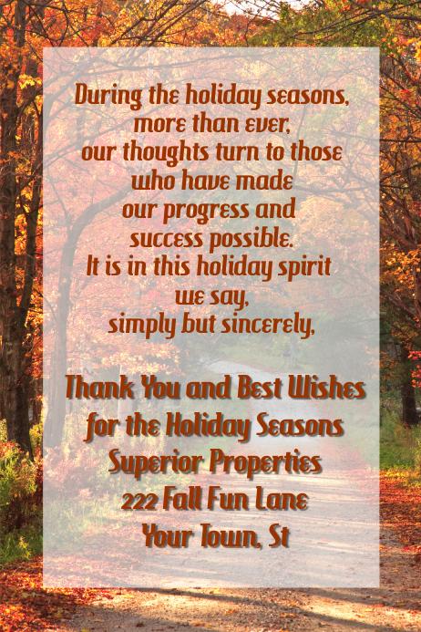 Fall Thanksgiving October Autumn invitation flyer poster