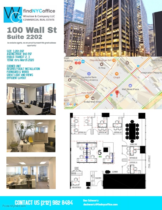 100 Wall St, Suite 2202