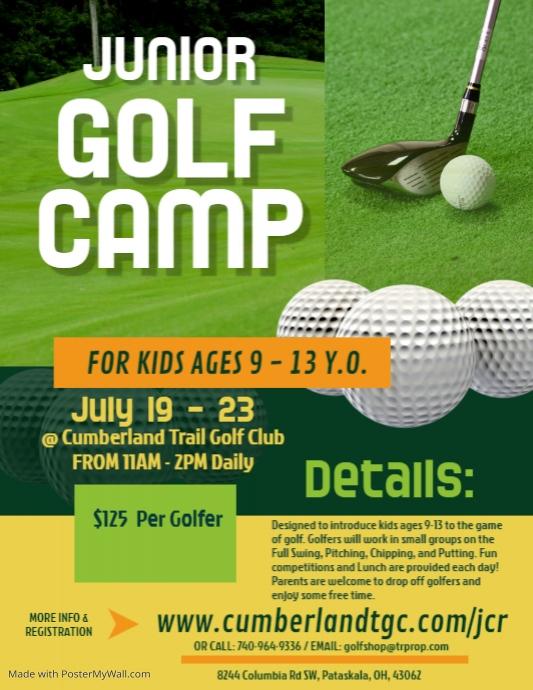 Golf Camp Flyer template