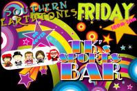 Party Fun Colorful Circles Stars Vintage Retro Rainbow Spring Time Club Dj Band Bar Event Flyer