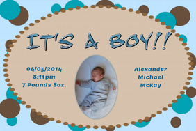 Baby Announcement (Boy)