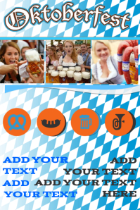 oktoberfest ad bar beer girls flyer poster