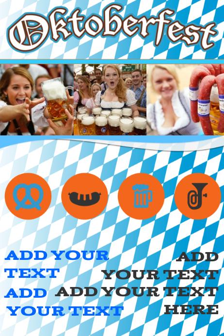 oktoberfest ad bar beer girls flyer poster