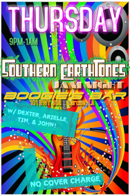 Rainbow Stripes Colorful Paint Guitar Retro Vintage Music Flames Fire Speakers Band Bar Flyer
