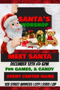 Santa's Workshop Event Template Poster
