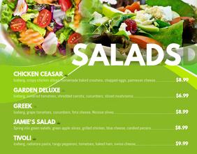 Salads Poster Menu Template