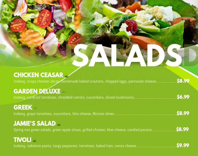 Salads Poster Menu Template