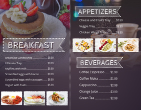 Breakfast Poster Menu Template  Breakfast Menu Template