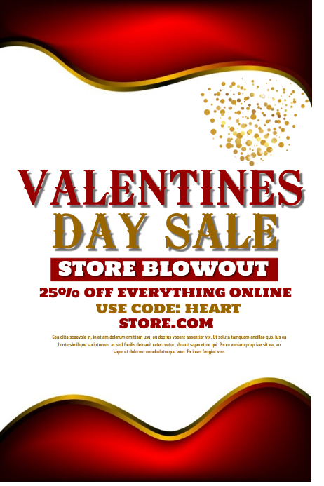 valentines day sale Plakat template
