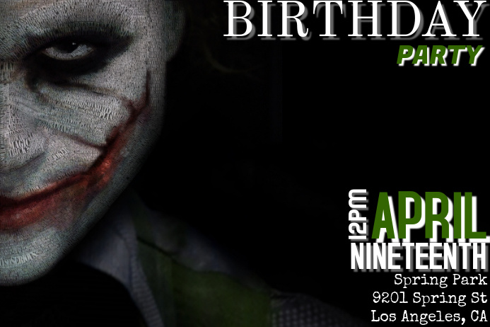 The Joker Birthday Party