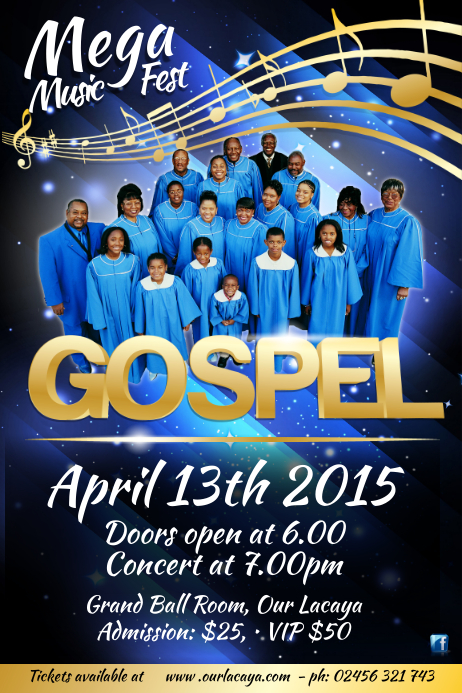 Gospel Concert Poster Template Postermywall