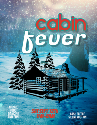 Cabin Fever Party Flyer Template