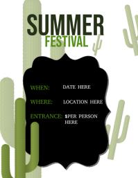 Cactus Summer Festival Flyer Template