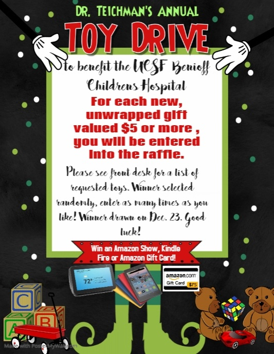 Copy of christmas toy drive fundraiser poster event flyer holiday