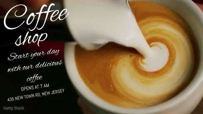 Cafe, coffee shop digital display Digitale Vertoning (16:9) template