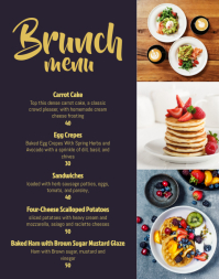 Cafe brunch menu Poster/Wallboard template