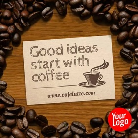 Cafe Coffee Cafeteria Instagram Post Persegi (1:1) template