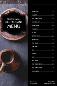 Cafe Coffee Restaurant Menu Template