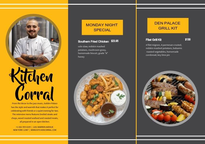 Cafe Diner Restaurant Leaflet A5 template