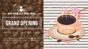 Cafe Grand Opening Facebook Cover Video