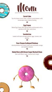 Cafe menu Digital Display (9:16) template