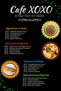cafe menu Pinterest Graphic template