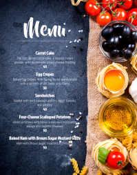 Cafe menu Poster/Wallboard template