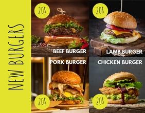 Cafe menu Plakat/tablica ścienna template