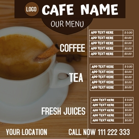 CAFE MENU FLYER Instagram Post template