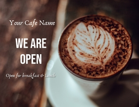cafe open Flyer (US Letter) template