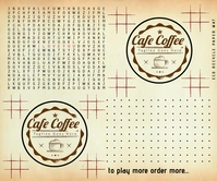 Cafe Order Table Mat Paper 2021 Template Stort rektangel