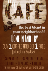 Cafe Poster Template