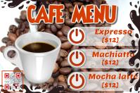Cafe promotion flyer - Coffee menu poster