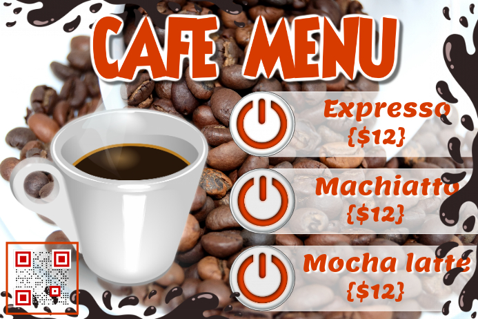 Cafe Promotion Flyer Coffee Menu Poster Template Postermywall