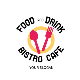 Cafe Restaurant Logo template
