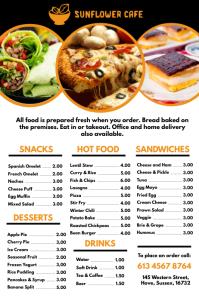cafe restaurant menu template