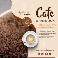 cafe shop Instagram-opslag template