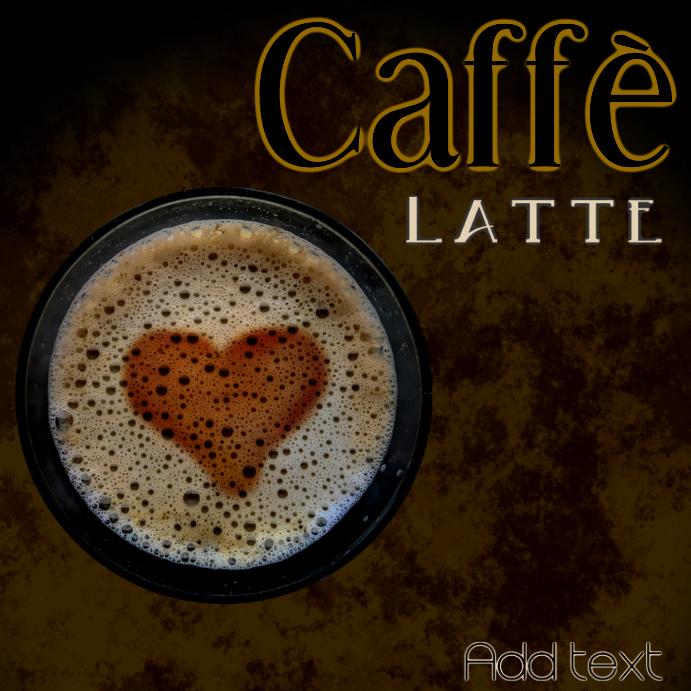caffè latte in dark brown and black