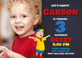 Caillou Birthday Invitation