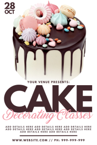 Cake Decorating Classes Poster template