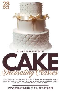 Cake Decorating Classes Poster