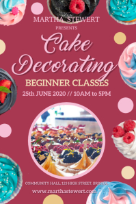Cake Decorating Poster Template