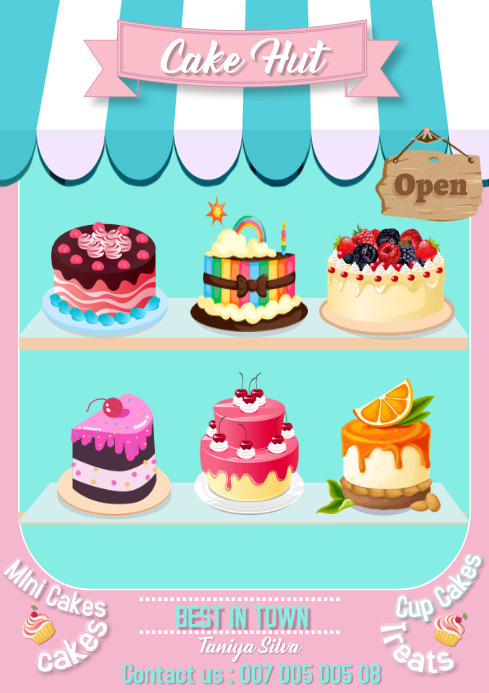 Cake Flyer Template A4