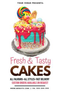 Cake Poster 海报 template