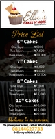 Cake price list flyer Roll Up Banner 2' × 5' template