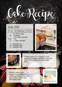 Cake Recipe Chalk Table Cooking Bake Magazin