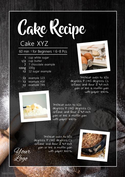Cake Recipe Cooking Baking Bakery Sweets Blog
