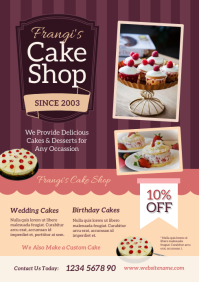 Cake Shop Flyer A4 template