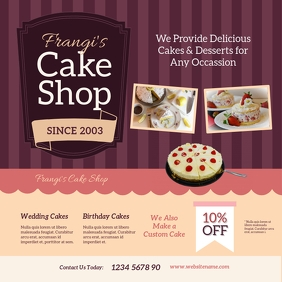 Cake Shop Instagram Post template
