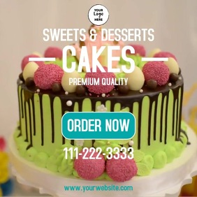 Cakes and desserts Instagram Post template
